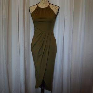 TRAC Olive Green Dress SIze Medium